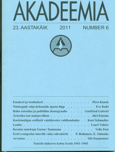 Akadeemia 6/2011