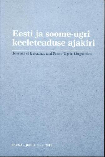 Eesti ja soome-ugri keeleteaduse ajakiri. (Helle  Metslangi)
