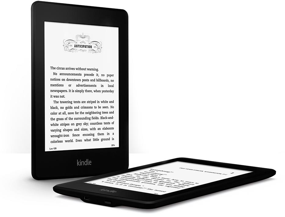 New Amazon Kindle Paperwhite latest version - Wi-Fi and Built-in Light with sponsored screensavers