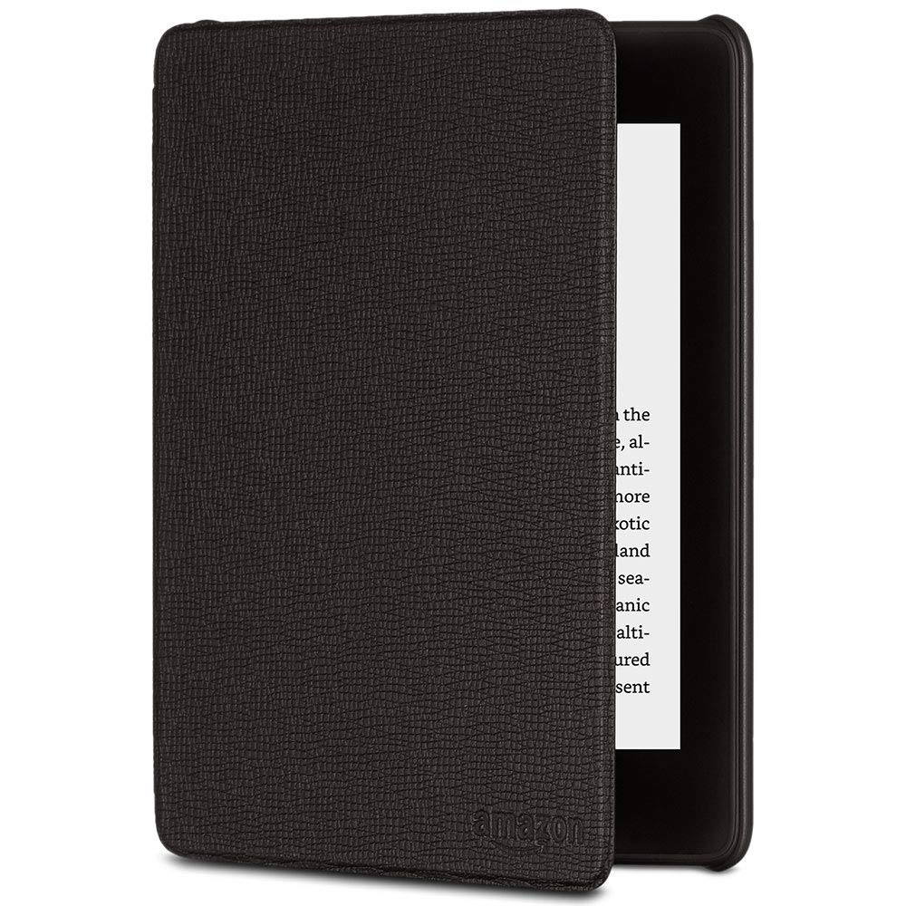 Kindle Paperwhite Leather Cover, Black  (10th Generation - 2018 Release)