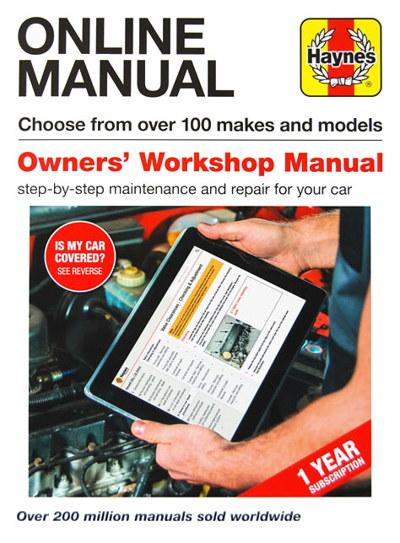 Haynes Online Manuals  1-year subscription