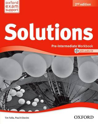 Solutions: Pre-Intermediate: Workbook and Audio CD Pack 2nd Revised edition
