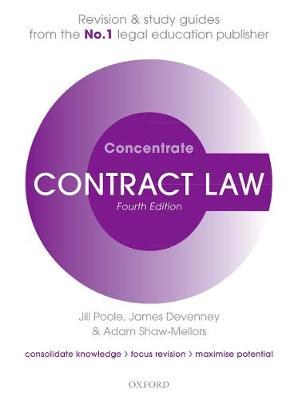 Contract Law Concentrate: Law Revision and Study Guide 4th Revised edition