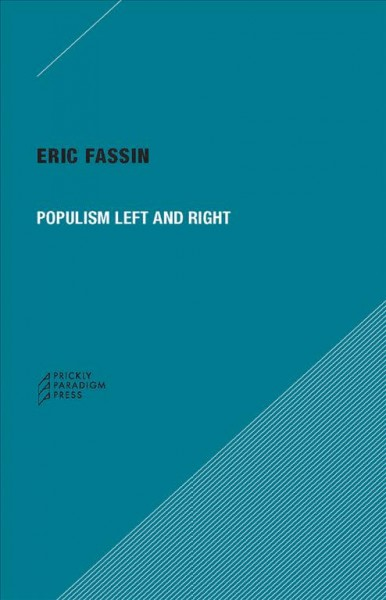 Populism Left and Right