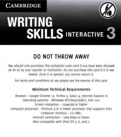 Grammar and Beyond Level 3 Writing Skills Interactive (Standalone for   Students) via Activation Code Card, Grammar and Beyond Level 3 Writing Skills Interactive (Standalone for   Students) via Activation Code Card