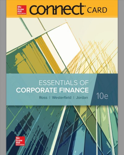Connect 1-Semester Access Card for Essentials Corporate Finance 10th ed  -  Krisostomus