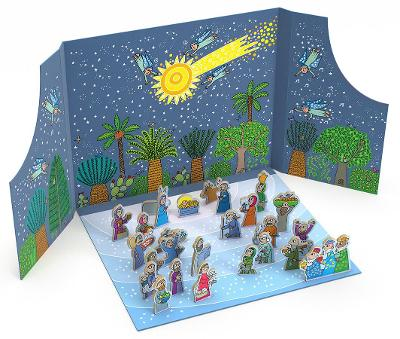 Birth of Jesus Advent Calendar and Nativity Scene