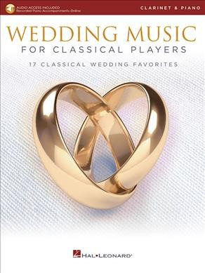 Wedding Music For Classical Players: Clarinet (Book/Online Audio)