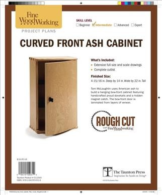 Curved Front Ash Cabinet from Classic Woodworking