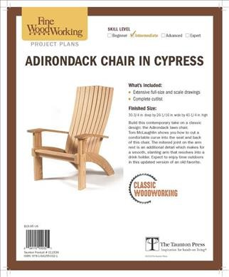 Fine Woodworking's Adirondack Chair in Cypress