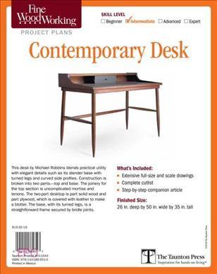 Fine Woodworking's Contemporary Desk Plan