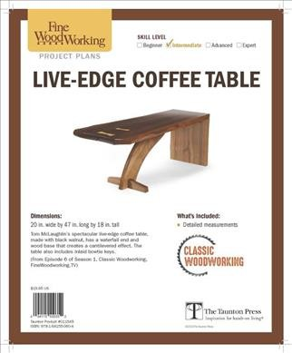 Live Edge Coffee Table from Classic Woodworking
