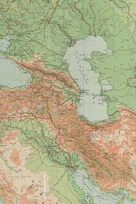 1921 Commercial Map of the Middle East: A Poetose Notebook / Journal / Diary (50 pages/25 sheets)