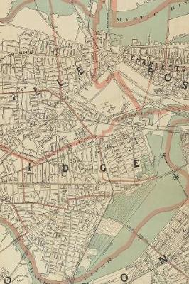 1892 Map of Cambridge and Somerville, Massachusetts: A Poetose Notebook / Journal / Diary (100 pages/50 sheets)