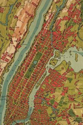 1910 Map of New York and the surrounding area - A Poetose Notebook / Journal   / Diary (100 pages/50 sheets): A Poetose Notebook / Journal / Diary (100 pages/50 sheets)