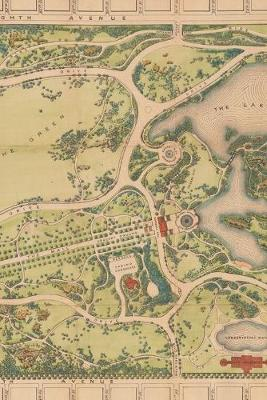 1873 Map of Central Park in Manhattan, New York City: A Poetose Notebook / Journal / Diary (100 pages/50 sheets)
