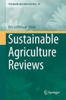 Sustainable Agriculture Reviews 2017 1st ed. 2017