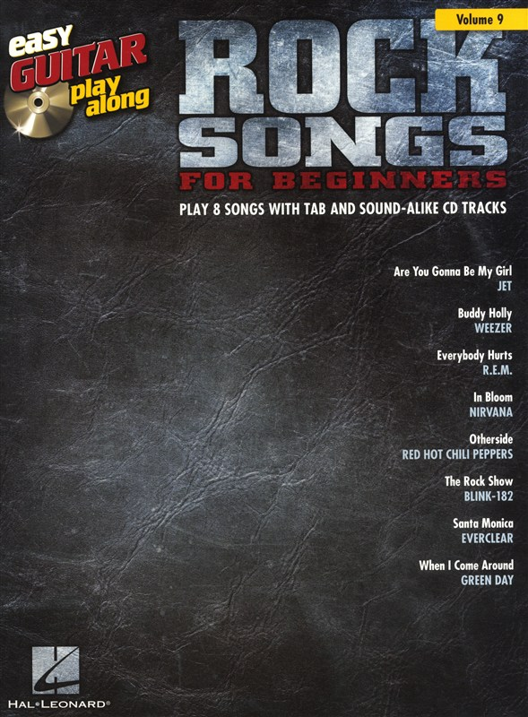 Easy Guitar Play-Along Volume 9: Rock Songs For Beginners