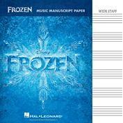Frozen: Music Manuscript Paper - Wide Staff (32 Pages)