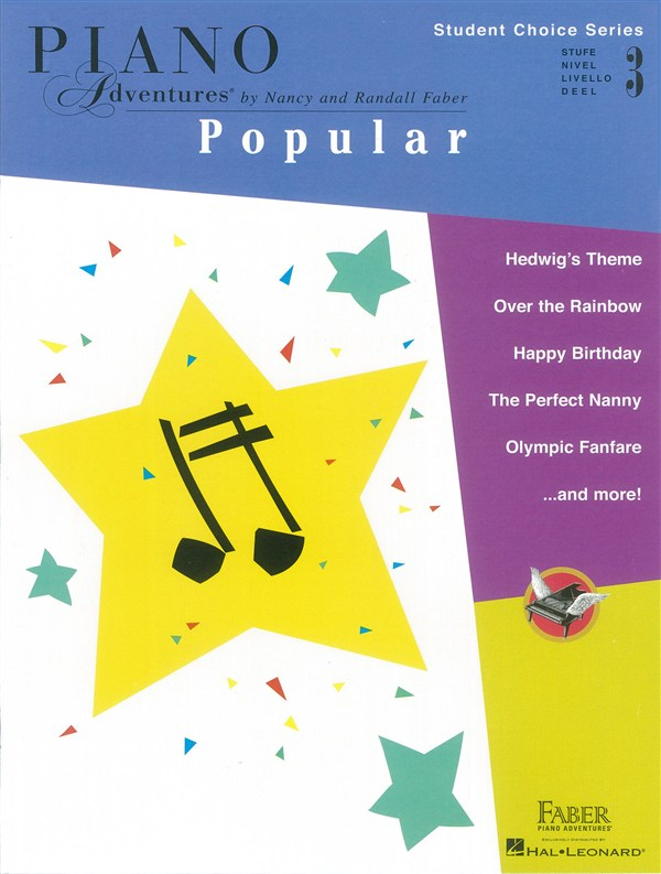 Faber Piano Adventures - Student Choice Series: Popular Level 3
