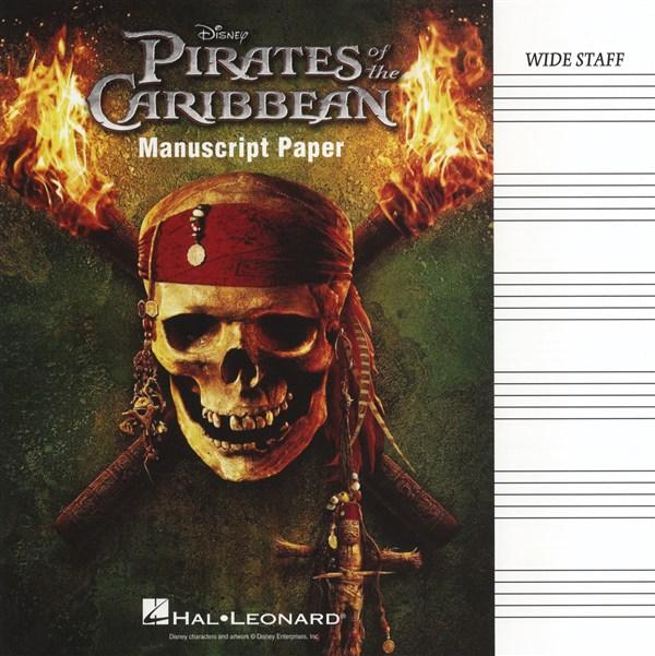 Pirates of the Caribbean Manuscript Paper - Wide Staff