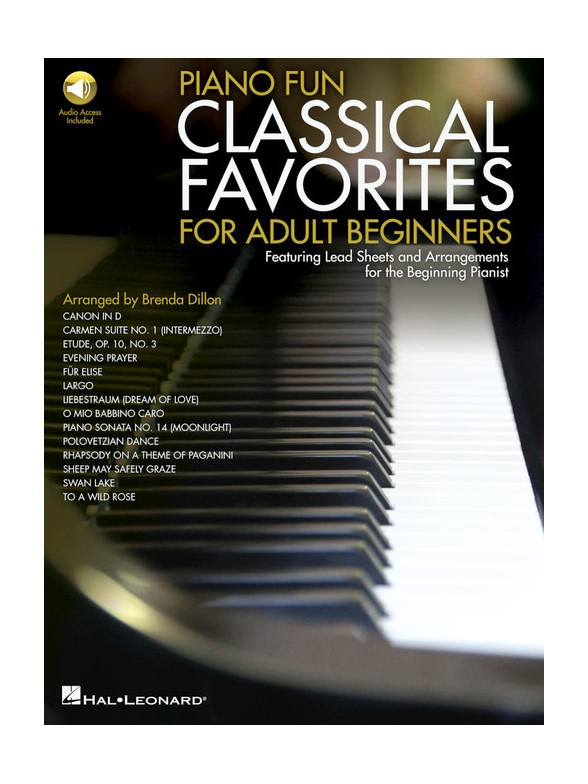 Piano Fun: Classical Favorites For Adult Beginners (Book/Online Audio)