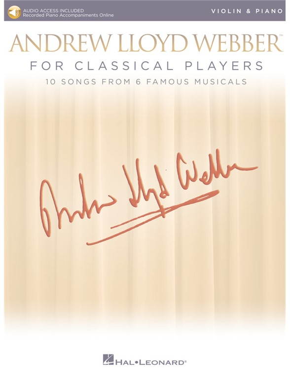 Andrew Lloyd Webber For Classical Players – Violin And Piano (Book/Online Audio)