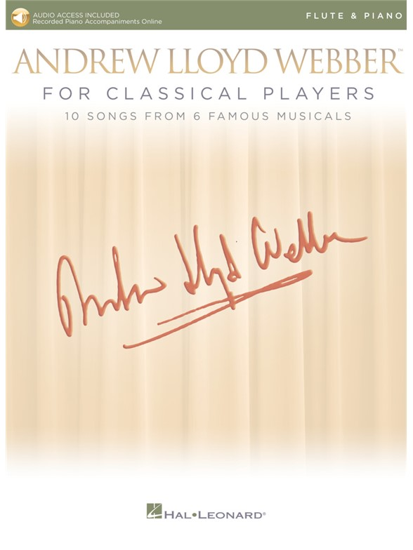 Andrew Lloyd Webber For Classical Players – Flute And Piano (Book/Online Audio)