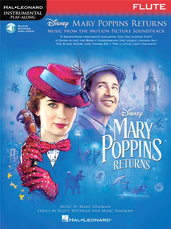 Instrumental Play-Along: Mary Poppins Returns - Flute (Book/Online Audio)