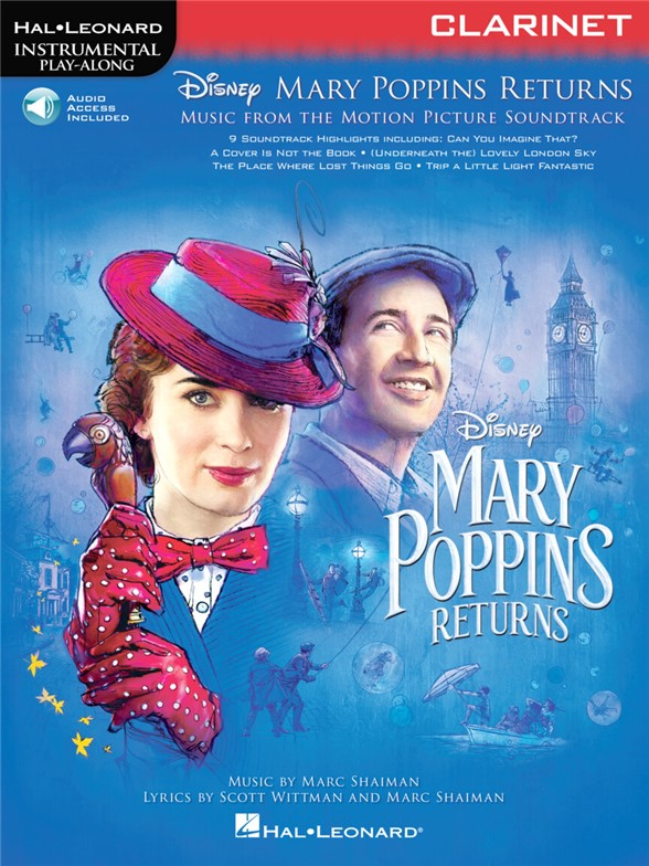 Instrumental Play-Along: Mary Poppins Returns - Clarinet (Book/Online Audio)