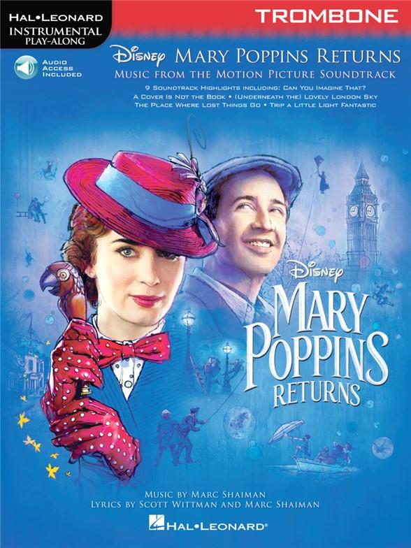 Instrumental Play-Along: Mary Poppins Returns - Trombone (Book/Online Audio)