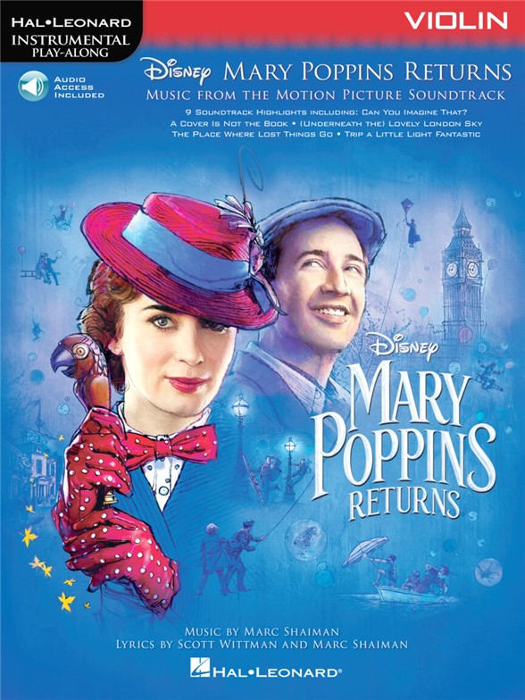 Instrumental Play-Along: Mary Poppins Returns - Violin (Book/Online Audio)