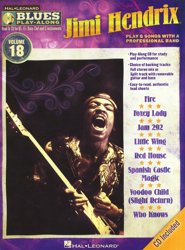 Jimi Hendrix: Blues Play-Along - Volume 18