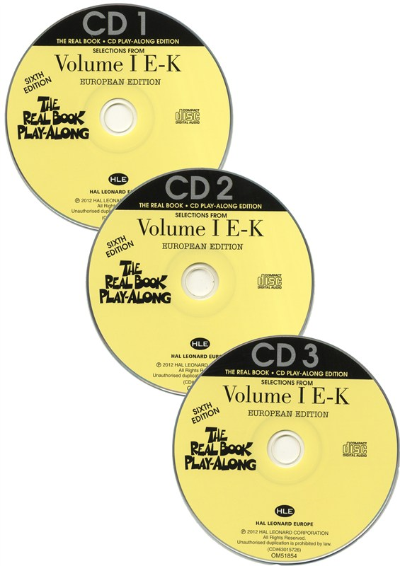 The Real Book Playalong Sixth Edition - Volume 1 E-K (3 CDs)