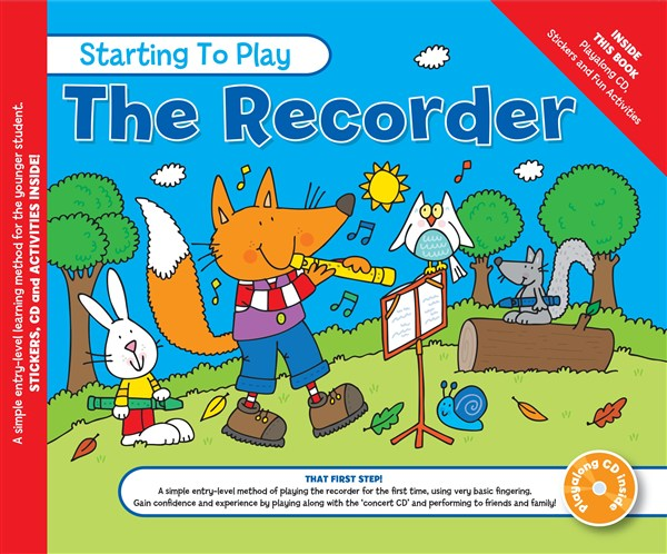 MUSIC FOR KIDS: Starting To Play The Recorder Book & CD