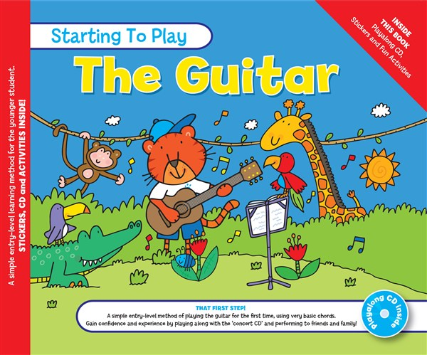 MUSIC FOR KIDS: Starting To Play Guitar Book & CD