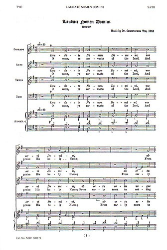 Christopher Tye: Laudate Nomen Domini/G.F. Handel: O Lord, We Trust Alone In Thee