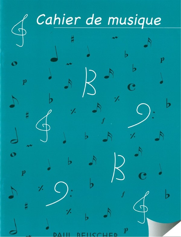 Cahier De Musique À 12 Portées - Grand Format